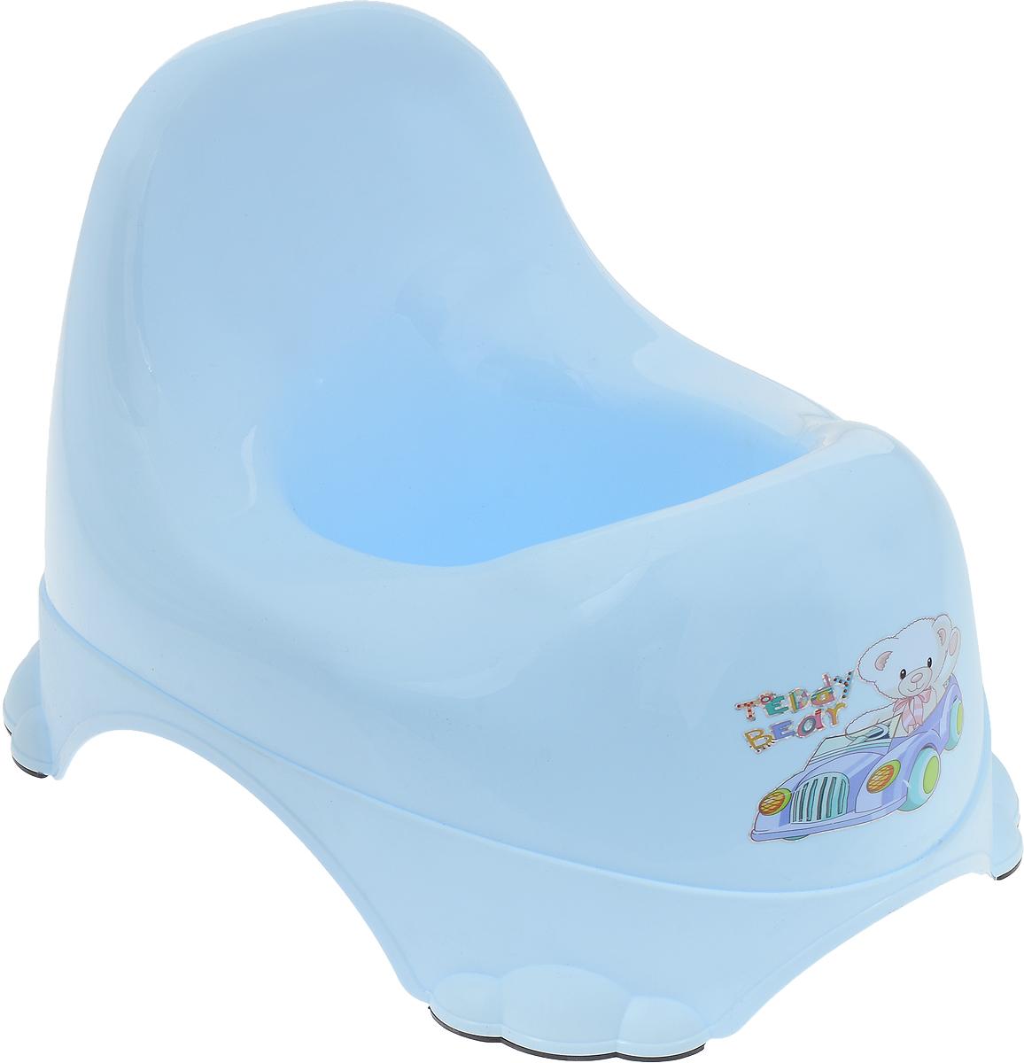 Dunya Plastik Горшок детский Ниш-бэйби цвет светло-голубой -  Горшки и адаптеры для унитаза