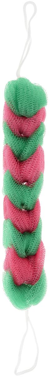 BioCos Мочалка для тела Косичка, цвет зеленый, красный5955_зеленый, красныйМочалка для тела BioCos Косичка обладает тонизирующим эффектом. Подходит для ежедневного применения. Деликатно и нежно очищает кожу, легко вспенивает даже небольшое количество геля или мыла. Обладает приятным отшелушивающим эффектом, мочалка массирует кожу, снимая усталость и напряжение. Служит долго, сохраняя свою первоначальную форму.Перед использованием размочить в горячей воде. После применения тщательно промыть под струей воды и высушить.Состав: безузловая сетка.