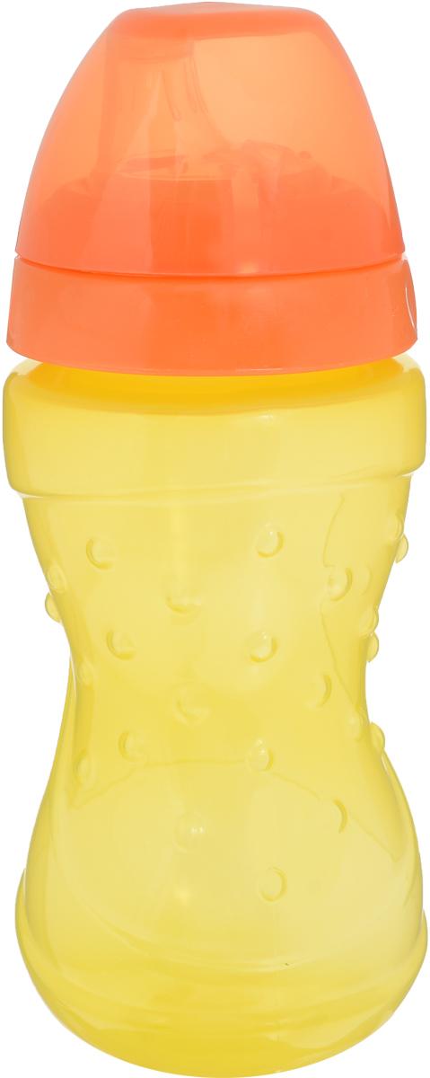 Lubby Поильник-непроливайка Спорт с мягким носиком от 6 месяцев цвет желтый оранжевый 230 мл -  Поильники