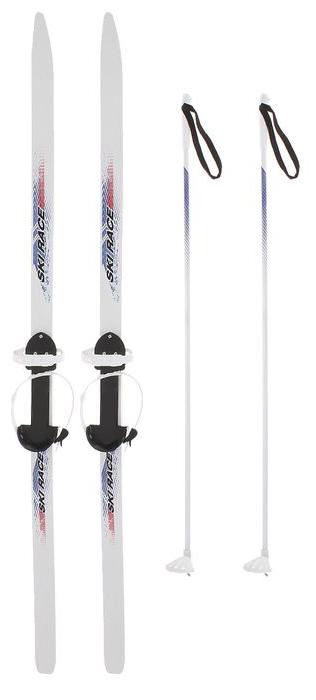 Лыжи подростковые Олимпик Ski Race, с креплениями, длина лыж/палок 150 см/110 см20658Лыжи подростковые Олимпик Ski Race предназначены для детей старшего дошкольного и младшего школьного возраста, подходят для спортивного катания. В комплекте пластиковые лыжи с насечкой, универсальное крепление Цикл, алюминиевые палки с наконечником. Лыжи изготовлены по технологии GAIM - газонаполненное литье под давлением в атмосфере газа, что позволяет гарантировать высокую прочность и оптимальную для начинающих лыжников жесткость полоза. Лыжи изготовлены из пластика ABS, что делает их гибкими и обеспечивает всепогодную скользящую поверхность, не требующую смазки. Противооткатная насечка на полозе не дает лыжам проскальзывать на снегу. Алюминиевые палки, усиленные металлическим наконечником, позволяют цепляться даже за жесткий снег или лед. Для сохранения геометрии клина полоза в комплекте между лыжами имеется вставка с держателем для лыжных палок. Универсальное пластиковое крепление Цикл на повседневную обувь регулируется под размер обуви ребенка от 28 до 36, обеспечивая надежную фиксацию стопы, так же как в лыжных ботинках. Длина лыж: 150 см. Длина палок: 110 см. Крепления для обуви: 28-36 размер. Вес: не более 2,5 кг. Возраст: 5-11 лет. Толщина лыжи в месте установки крепления: 17 мм. Геометрия лыж: PARALLEL 50. Стиль катания: комбинированный. Скользящая поверхность: ABS с противооткатными насечками. Диаметр палок: 12 мм.