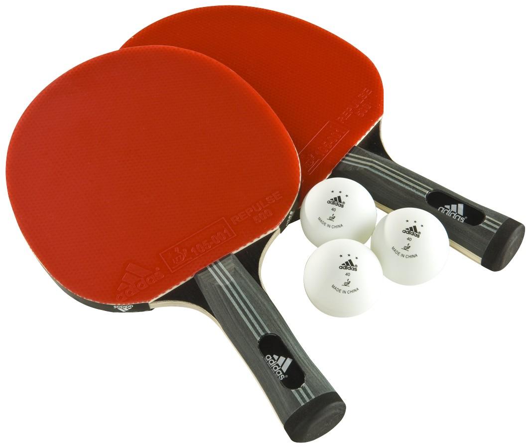 Набор для настольного тенниса Adidas Comp, 5 предметовAGF-10406В состав набора входит 2 ракетки + 3 мяча