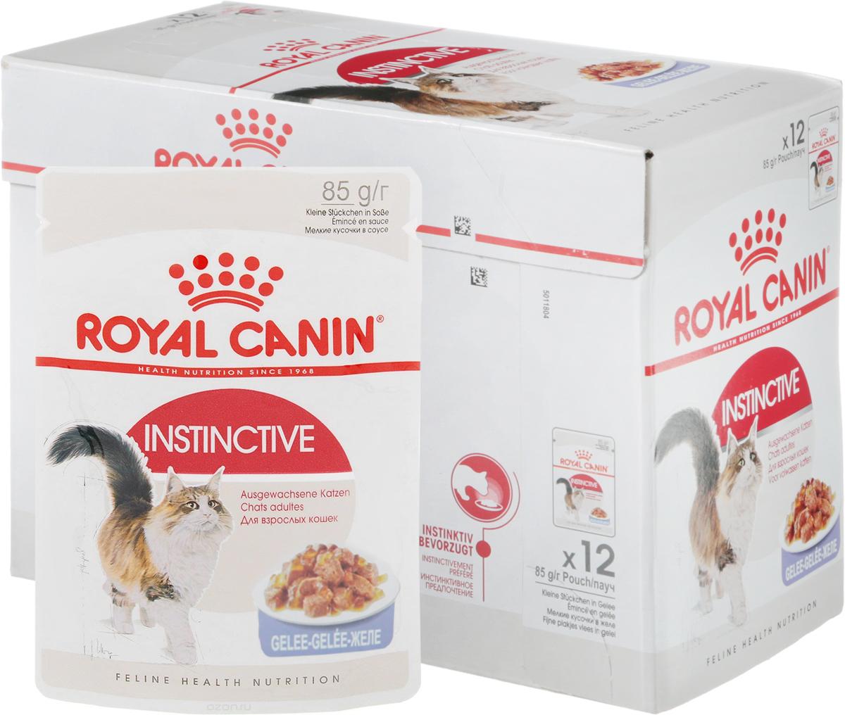 Консервы Royal Canin Instinctive, для кошек старше 1 года, мелкие кусочки в желе, 85 г, 12 шт46762Консервы Royal Canin Instinctive - полнорационный влажный корм для кошек старше 1 года. Какой бы здоровой ни была пища, если кошка не захочет ее есть, от нее будет мало пользы! Взрослые кошки предпочитают особую формулу Macro Nutritional Profile.У взрослых кошек и котов, особенно стерилизованных или кастрированных, повышается риск заболевания мочекаменной болезнью. Их рацион должен содержать питательные вещества, необходимые для поддержания их жизненной энергии, и в то же время способствовать сохранению идеального веса.Корм Instinctive является идеально сбалансированным рационом, соответствующим оптимальной формуле макронутриентного профиля (MNP), инстинктивно предпочитаемый кошками. Здоровая мочевыводящая система: помогает поддерживать здоровье мочевыделительной системы кошки, сокращая концентрацию минеральных веществ, способствующих образованию мочевых камней. Поддержание идеального веса: исключительно аппетитные кусочки в желе умеренной калорийности способствуют сохранению идеального веса тела кошки. В рацион домашнего любимца нужно обязательно включать консервированный корм, ведь его главные достоинства - высокая калорийность и питательная ценность. Консервы лучше усваиваются, чем сухие корма. Также важно, что животные, имеющие в рационе консервированный корм, получают больше влаги. Состав: мясо и мясные субпродукты, экстракты белков растительного происхождения, субпродукты растительного происхождения, минеральные вещества, углеводы. Товар сертифицирован.