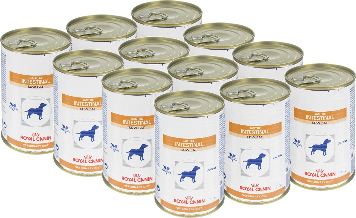 Консервы для собак Royal Canin Gastro Intestinal Low Fat, при нарушении пищеварения, c пониженным содержанием жира, 410 г, 12 шт22323Royal Canin Gastro Intestinal Low Fat - этополнорационный диетический корм для собак,способствующийрегуляции метаболизма липидов пригиперлипидемии. Этот продукт содержит малоеколичество жиров ивысокий уровень основных жирных кислот. Показания к применению:- острая и хроническая диарея;- гиперлипидемия;- острый панкреатит (в том числе перенесенныйранее);- пролиферация бактерий в тонком кишечнике;- лимфангиэктазия – экссудативная энтеропатия;- экзокринная недостаточность поджелудочнойжелезы. Противопоказания:- беременность и лактация. Длительность применения диеты варьируется взависимости от тяжести симптомов нарушенияпищеварения. Для оптимальной работыпищеварительной системы необходимособлюдение суточного рациона и увеличение егократности кормлений в день. Сочетание высококачественных белков с высокойстепенью усвояемости, пребиотиков(фруктоолигосахариды и маннановыеолигосахариды), свекольного жома, риса ирыбьего жира обеспечивает максимальнуюбезопасность пищеварения. Низкая концентрация жиров в диете улучшаетпищеварительную функцию у собак, страдающихгиперлипидемией или острым панкреатитом.Невысокое содержание растворимой клетчаткиснижает чрезмерную ферментацию в толстомотделе кишечника. Низкое содержаниенерастворимой клетчатки помогает избежатьэнергетических затрат на ее переваривание, атакже свести к минимуму потерю вкусовойпривлекательности диеты. Комплекс антиоксидантов синергичного действияснижает уровень окислительного стресса иборется со свободными радикалами. Состав: мясо и мясные субпродукты, злаки,субпродукты растительного происхождения,минеральные вещества, масла и жиры, дрожжи.Добавки (на 1 кг): витамин D3: 200 МЕ, железо: 8мг, йод: 0.15 мг, марганец: 2.5 мг, цинк: 24 мг.Энергетическая ценность: 997 ккал. Вес: 410 г. Товар сертифицирован.