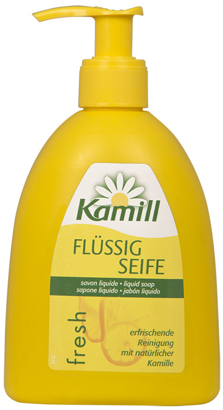 Kamill Мыло жидкое для рук Fresh, 300 мл26950643Освежающее жидкое мыло для рук с ароматом цитрусового молочка и экстрактом ромашки успокаивает кожу и поддерживает ее естественную регенерацию.Благодаря аромату лимонного молочка, оставляет ощущение свежести после использования. Концентрированная формула обеспечивает очень экономичный расход мыла.Жидкое мыло Kamill pH-нейтрально, проверено дерматологически. Товар сертифицирован.