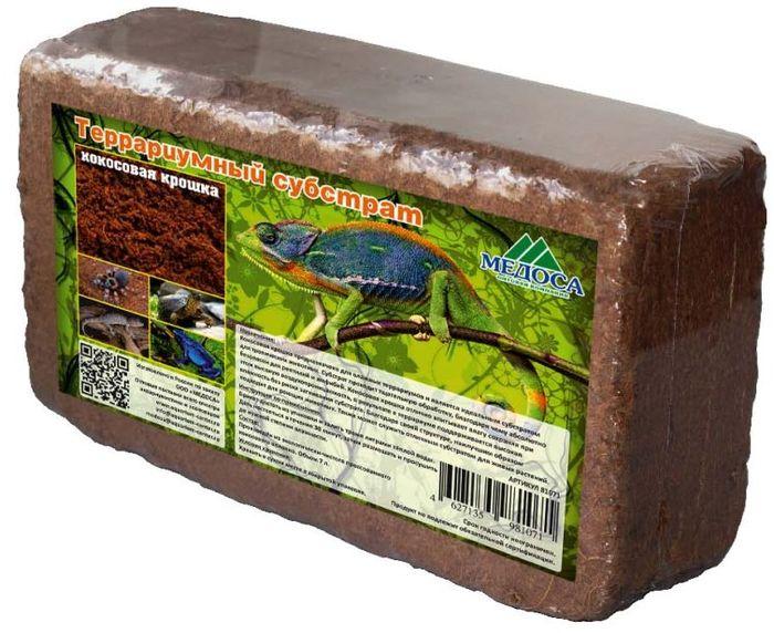 Субстрат террариумный Медоса Кокосовая крошка, 650 г81071Натуральный кокосовый субстрат прекрасно подходит для поддержания влажности в террариуме.Совершенно безопасен для таких животных как змеи, ящерицы, хамелеоны и черепахи.Рекомендуется обрызгивать водой для поддержания влажности. Стимулирует естественные рефлексы у животных. Может быть использован также и для посадки растений. Для использования в террариумах, флорариумах.