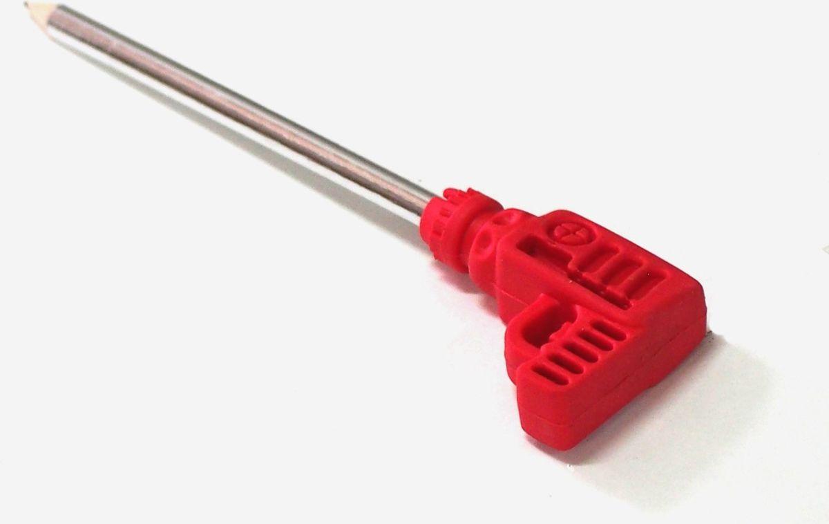 Карамба Карандаш с ластиком в виде дрели цвет красный003876Ластик выполнен в виде дрели и надет на простой карандаш.