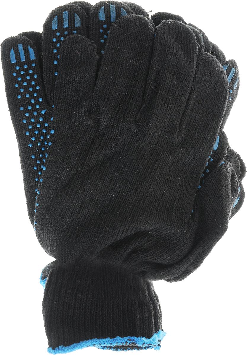 Перчатки Вихрь, с ПВХ покрытием, 5 пар. 73/4/1/273/4/1/2Вязаные перчатки Вихрь, выполненные из хлопка и полиэфира, предназначены для строительных и погрузочно-разгрузочных работ. Ладонная часть усилена слоем из ПВХ материала, что обеспечивает дополнительную защиту рук.