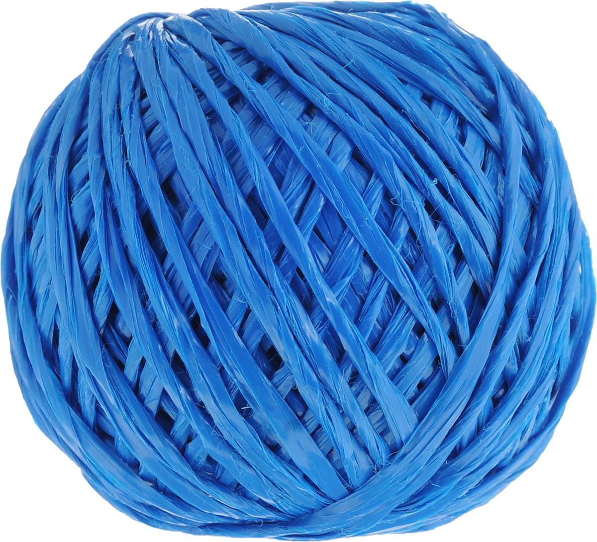 Шпагат Шнурком, цвет: синий, длина 60 мШпп_60_синийПолипропиленовый шпагат Шнурком плотностью 1000 текс входит в категорию веревочной продукции, сырьем для которой являются синтетические волокна, в частности полипропиленовая нить. Данный материал характеризуется высокой прочностью и стойкостью к износу. Кроме того, он эластичен, гибок, не боится многократных изгибов, плотно облегает изделие при обвязке и легко завязывается в крепкие узлы. Относительная удельная плотность полипропиленовых шпагатов варьируется от 0,70 до 0,91 кг/м3. Температура плавления от 150 до 170°C (в зависимости от вида и модели шпагата). Удлинение под предельной нагрузкой (18-20%).Длина шпагата: 60 м. Толщина нити: 2 мм. Линейная плотность шпагата: 1000 текс.