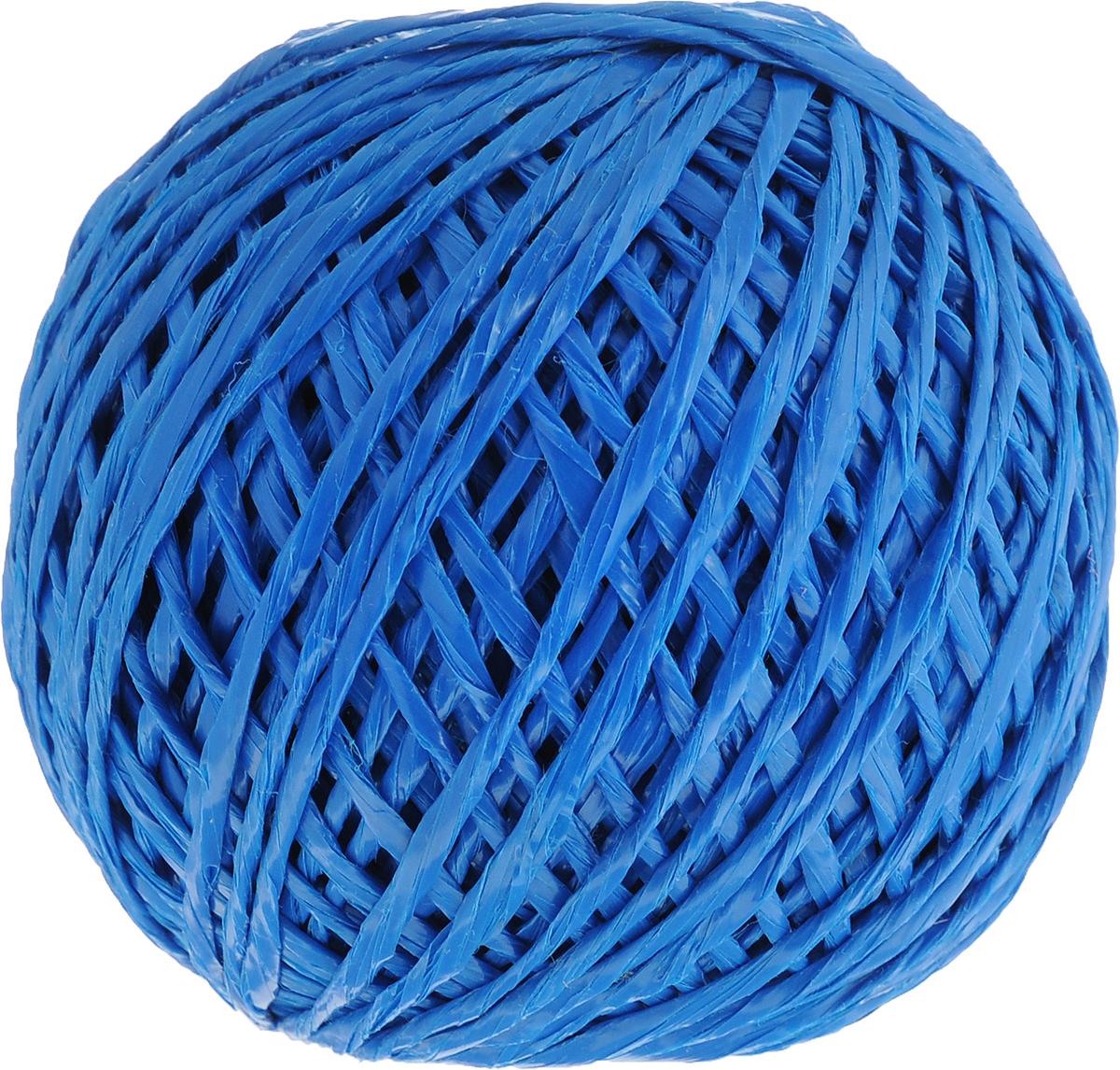 Шпагат Шнурком, цвет: синий, длина 100 мШпп_100_синийПолипропиленовый шпагат Шнурком плотностью 1000 текс входит в категорию веревочной продукции, сырьем для которой являются синтетические волокна, в частности полипропиленовая нить. Данный материал характеризуется высокой прочностью и стойкостью к износу. Кроме того, он эластичен, гибок, не боится многократных изгибов, плотно облегает изделие при обвязке и легко завязывается в крепкие узлы. Относительная удельная плотность полипропиленовых шпагатов варьируется от 0,70 до 0,91 кг/м3. Температура плавления от 150 до 170°C (в зависимости от вида и модели шпагата). Удлинение под предельной нагрузкой (18-20%).Длина шпагата: 100 м. Толщина нити: 2 мм. Линейная плотность шпагата: 1000 текс.
