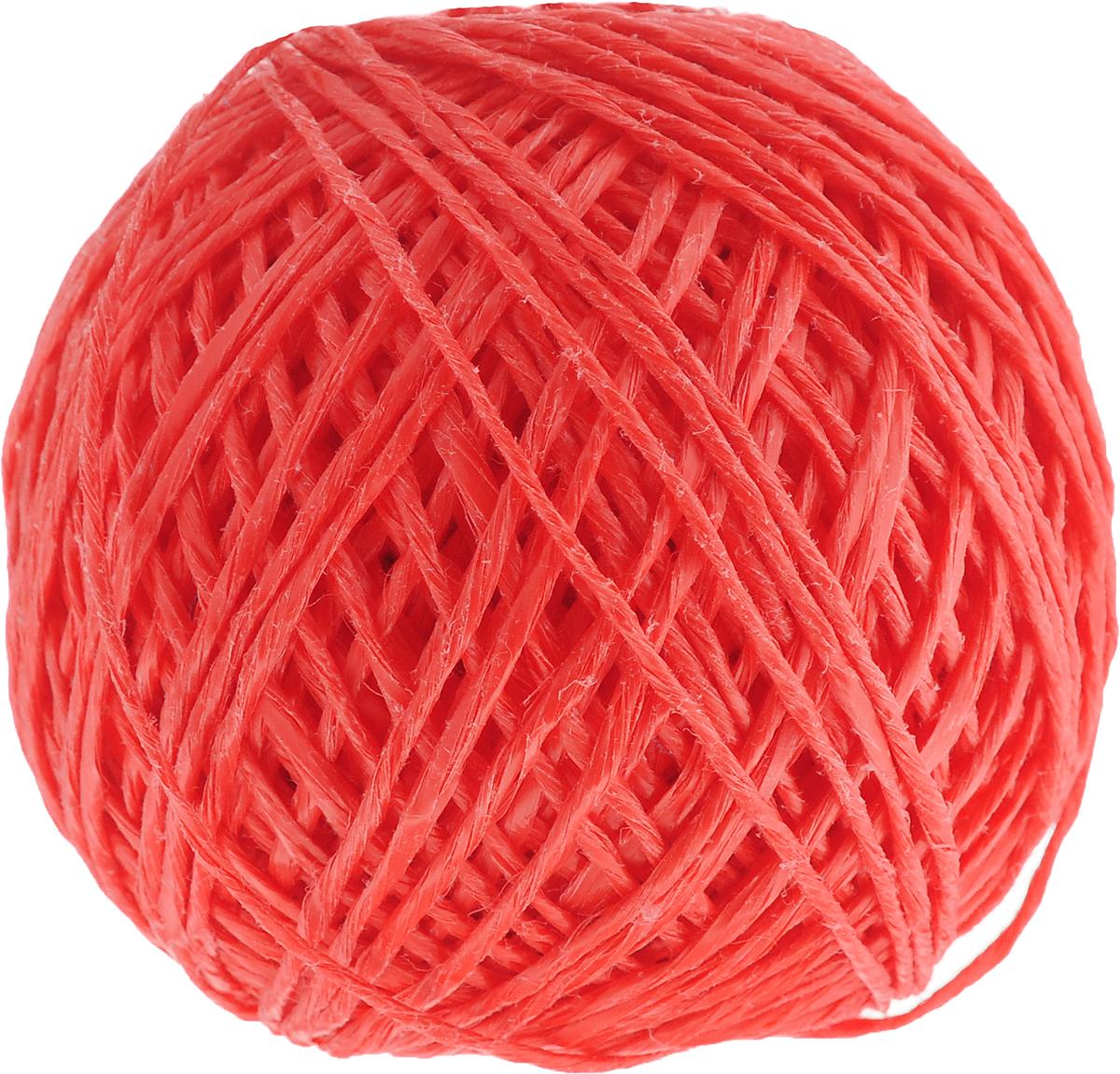Шпагат Шнурком, цвет: коралловый, длина 100 мШпп_100_коралловыйПолипропиленовый шпагат Шнурком плотностью 1000 текс входит в категорию веревочной продукции, сырьем для которой являются синтетические волокна, в частности полипропиленовая нить. Данный материал характеризуется высокой прочностью и стойкостью к износу. Кроме того, он эластичен, гибок, не боится многократных изгибов, плотно облегает изделие при обвязке и легко завязывается в крепкие узлы. Относительная удельная плотность полипропиленовых шпагатов варьируется от 0,70 до 0,91 кг/м3. Температура плавления от 150 до 170°C (в зависимости от вида и модели шпагата). Удлинение под предельной нагрузкой (18-20%).Длина шпагата: 100 м. Толщина нити: 2 мм. Линейная плотность шпагата: 1000 текс.