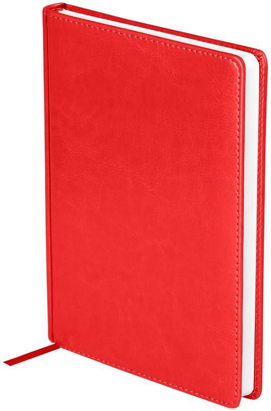 OfficeSpace Ежедневник Nebraska недатированный 136 листов в линейку цвет красный формат A5En5_12829Ежедневник недатированный формата А5 из коллекции Nebraska. Обложка изготовлена из высококачественного кожзаменителя, имитирующего натуральную глянцевую кожу, с поролоновой прослойкой, цвет обложки - красный. Подходит для всех видов полиграфического тиснения. Внутренний блок состоит из 136 листов офсетной бумаги плотностью 70 г/м2, печать блока в 2 краски, справочный материал. На форзацах географические карты России и Мира. Удобная закладка-ляссе и перфорированные уголки.
