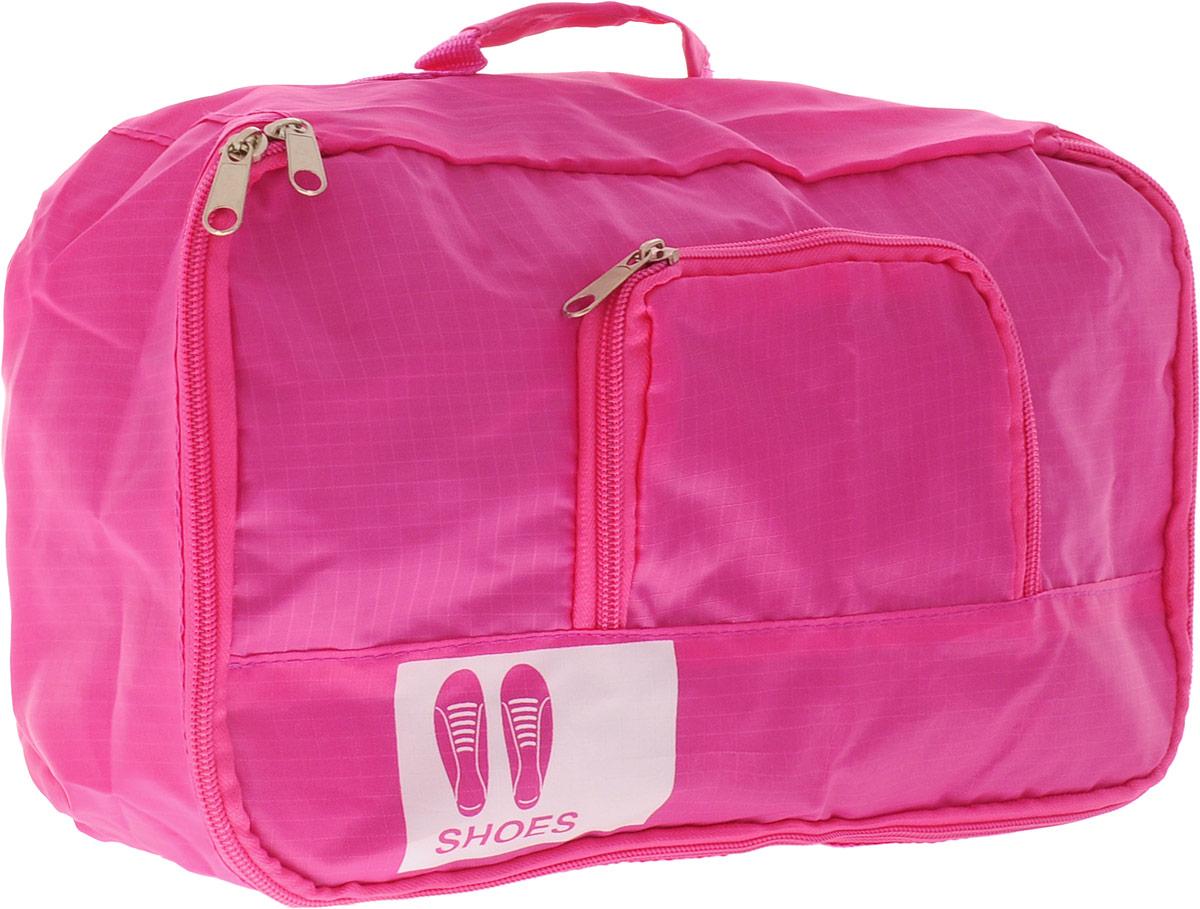 Colibri Чехол для обуви, цвет: розовый.JBB103 (PINK)Чехол для обуви Colibri выполнен из 100% полиэстера. Изделие закрывается на молнию, спереди расположен небольшой накладной кармашек на молнии. Чехол предназначен для хранения и транспортировки обуви. Компактный и удобный чехол не займет много места в чемодане. Для переноски предусмотрена ручка.