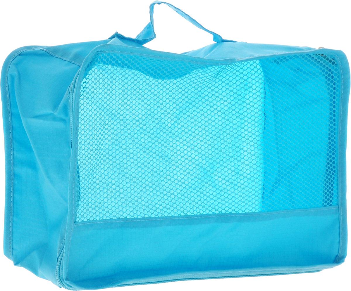 Colibri Косметичка, цвет: голубой, 26 х 20 х 10 смCW404 (BLUE)Косметичка Colibri выполнена из 100% полиэстера и дополнена вставкой из сетки. Изделие закрывается на молнию. Косметичка предназначена для транспортировки косметических средств и принадлежностей. Компактная и удобная косметичка не займет много места в чемодане. Для переноски предусмотрена ручка.