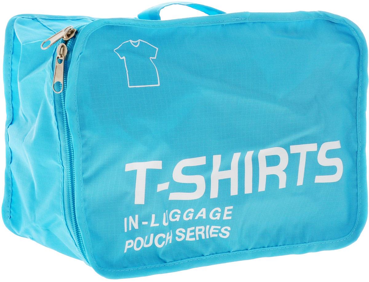 Colibri Чехол для одежды, цвет: голубой, 31 х 21 х 12 смCW5760 (BLUE)Чехол для одежды Colibri выполнен из 100% полиэстера. Закрывается на молнию. Изделие предназначено для хранения и транспортировки одежды: футболок, нижнего белья. Благодаря небольшим размерам не займет много места у вас в чемодане. Для переноски предусмотрена ручка. Верх дополнен надписью: T-Shirts In Luggage Pouch Series.