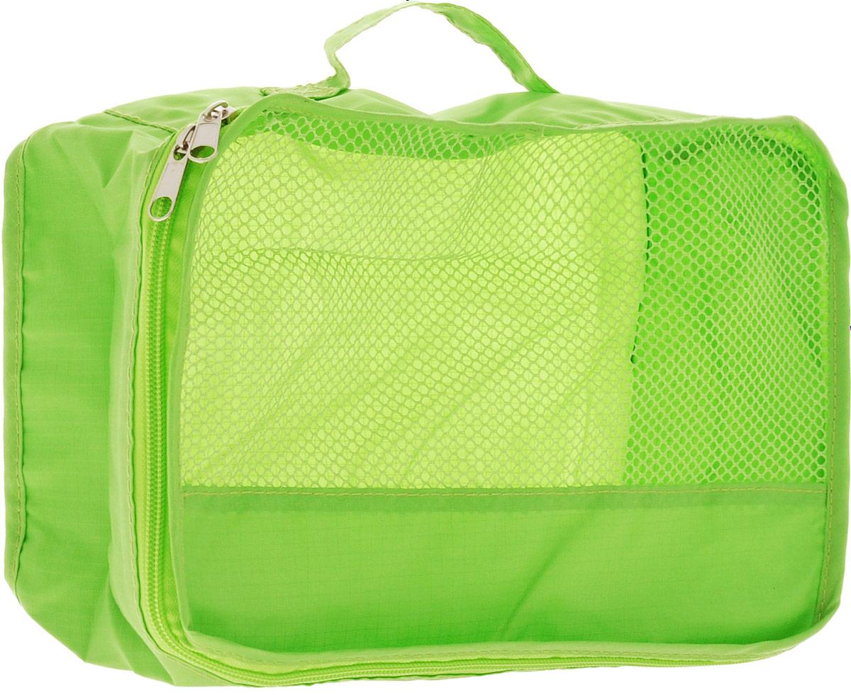 Colibri Косметичка, цвет: зеленый, 26 х 20 х 10 смCW404 (GREEN)Косметичка Colibri выполнена из 100% полиэстера и дополнена вставкой из сетки. Изделие закрывается на молнию. Косметичка предназначена для транспортировки косметических средств и принадлежностей. Компактная и удобная косметичка не займет много места в чемодане. Для переноски предусмотрена ручка.