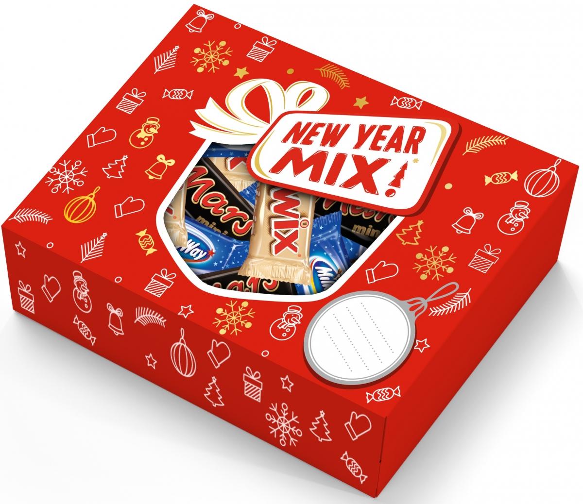 Minis Ассорти подарочный набор, 195 г4607065379902Новогодний набор New Year Mix - отличный подарок для родных, близких, детей и коллег! В наборе - только самые известные и любимые шоколадные батончики, конфеты и драже: Сникерс, Твикс, Баунти и, кончено же, M&Ms! Яркая упаковка дополняет этот разнообразный ассортимент и делает ваш подарок по-настоящему незабываемым!