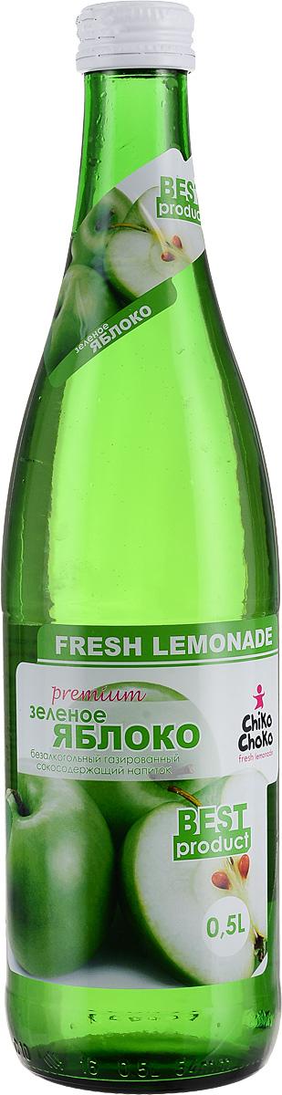 Chiko Choko Газированный сокосодержащий напиток Зеленое яблоко, 0,5 лЗЯ05Прохладительные напитки Chiko Choko изготовлены на основе натуральных экстрактов и настоев по старинным грузинским рецептам вековой давности, восстановленных и усовершенствованных современными технологиями.ГОСТ 28188-89.