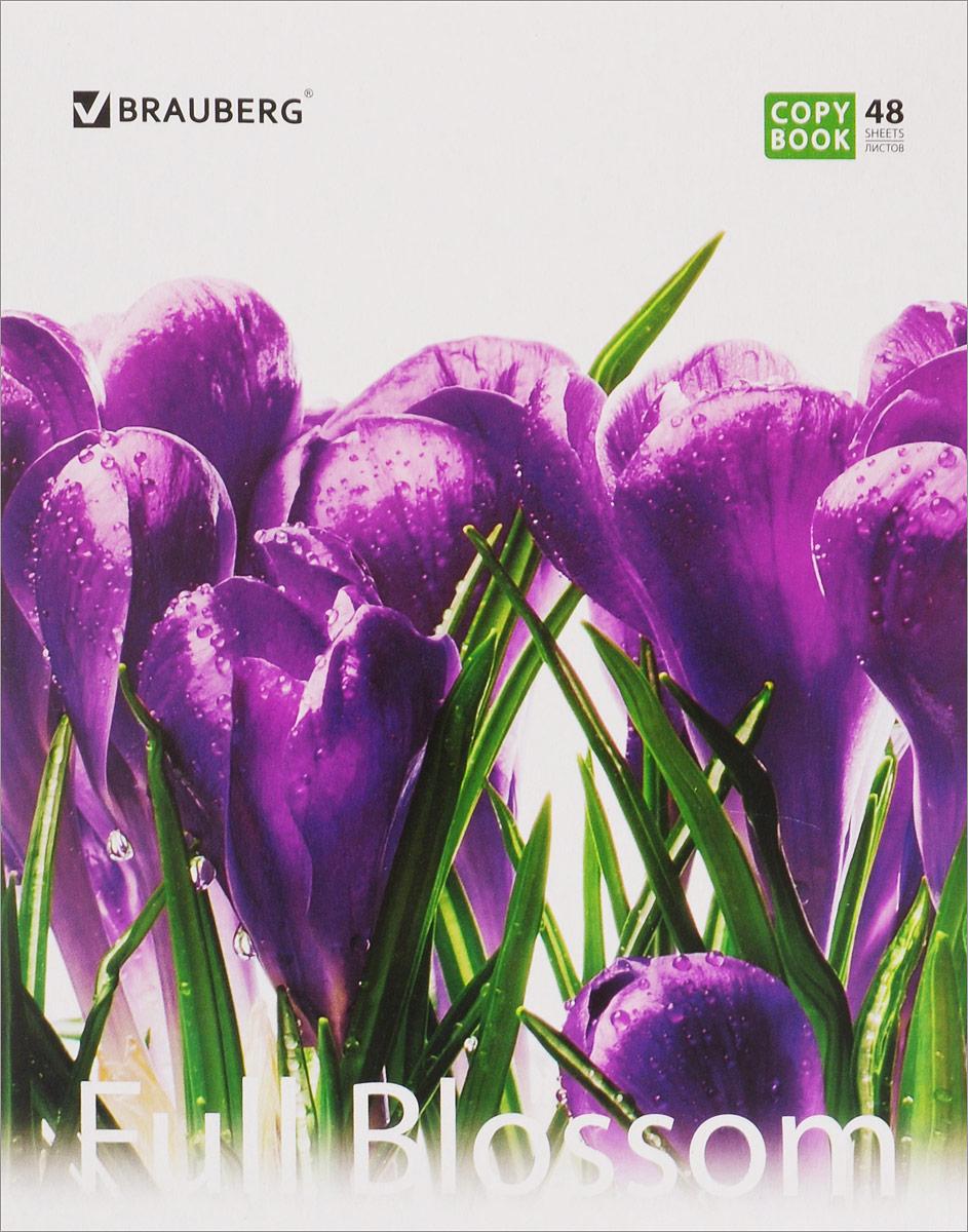 Brauberg Тетрадь Full Blossom Цветы 48 листов в клетку401808_фиолетовые цветыBrauberg Тетрадь Full Blossom Цветы 48 листов в клетку
