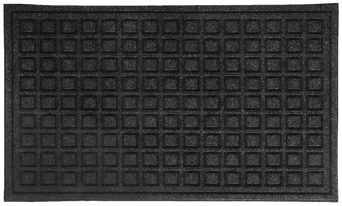 Коврик придверный Apache Mills Textures Blocks Onyx, 45 х 76 см5066Практичный и долговечный влаговпитывающий придверный коврик Textures. Настоящая находка для тех, кто любит функциональные и надежные вещи. Благодаря рельефному рисунку обладает высокими грязезащитными свойствами, хорошо очищает грязь с подошвы обуви. Обладает отличными влаговпитывающими характеристиками, устойчив к появлению плесени. Отличный вариант для использования перед входной дверью в сезон дождей или зимой. Основание из резины не крошатся и не растрескивается со врменем, поверхность из плотного волокна на основе полипропилена не выцветает, не истирается и не линяет при попадании влаги.