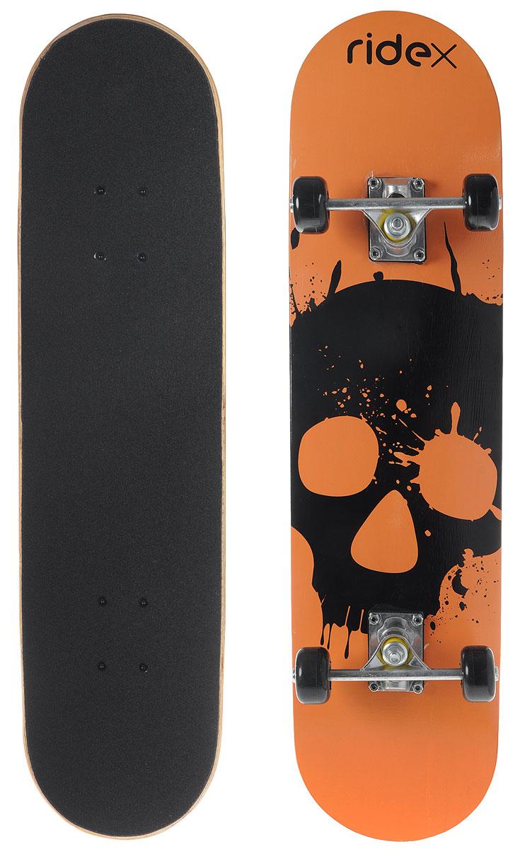 Скейтборд Ridex Spirit, цвет: оранжевый, 31X8, ABEC-3УТ-00009760Скейтборд Spirit, 31x8 - это скейтборд для подростков и взрослых, тех, кто продолжает осваивать или уверенно стоит на доске. На данной доске уже можно уверенно учиться трюкам, так как в конструкции скейта присутствует алюминиевая подвеска, стойкая к ударам и износу. 31-ти дюймовая дека, алюминиевая подвеска, ПВХ колеса, индивидуальный дизайн.Характеристики:Дека: 31х8, 9-ти слойный китайский кленПокрытие деки (сцепление): grip tape, черныйПодвеска: алюминийПрокладка: резиноваяБушинги: PVCМатериал колес: PVCРазмер колес, мм: 50Подшипники: ABEC-3Максимальный вес пользователя, кг: 50Упаковка: термоусадкаВес без коробки, кг: 2Вес брутто: 2.272 кг.
