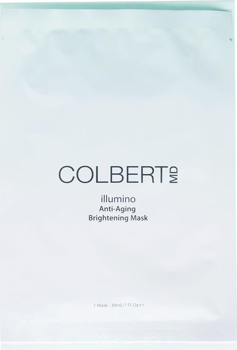 Colbert MD Маска для лица, придающая сияние illumino, 5 штCMD0288Концентрированная антивозрастная осветляющая маска из биоцеллюлозы делает более гладкой, сияющей и возвращает потерянный объем и упругость. Запатентованная технология Triad Delivery System™ омолаживает поврежденную и уставшую кожу. Заметно уменьшает темные пятна и другие несовершенства стимулируя регенерацию кожи и клеточное обновление. Эти маски также можно использовать как предварительный уход перед нанесением макияжа и/или как восстанавливающий уход после лазерных процедур.