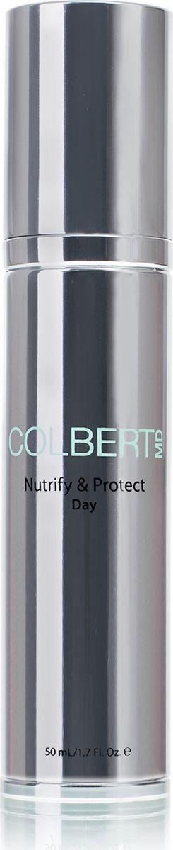 Colbert MD Дневной крем для лица Nutrify & Protect, 50 млCMD0323Питательное и защитное дневное средство, восстанавливающее кожу после повреждений, вызванных внешними факторами и предотвращающее дальнейшее негативное влияние окружающей среды. Восстанавливает увлажненность кожи, доставляет в кожу комплекс антиоксидантов и основных питательных веществ. Технология Triad Delivery System™ регенерирует кожу на клеточном уровне, доставляет питательные вещества в активном состоянии в слои кожи и выводит на поверхность свежеобразованные клетки кожи.