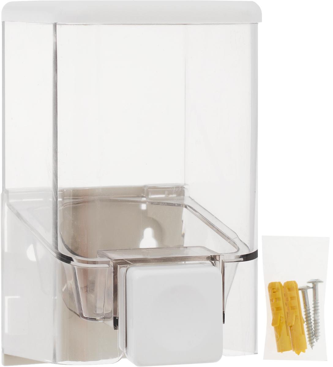 Диспенсер для жидкого мыла Vanstore, 380 мл901-52Настенный диспенсер для жидкого мыла Vanstore изготовлен из прочного пластика с прозрачным окошком. Надежен и удобен в использовании. Крепится на шурупах (в комплекте). Подходит как для домашнего, так и для профессионального использования.