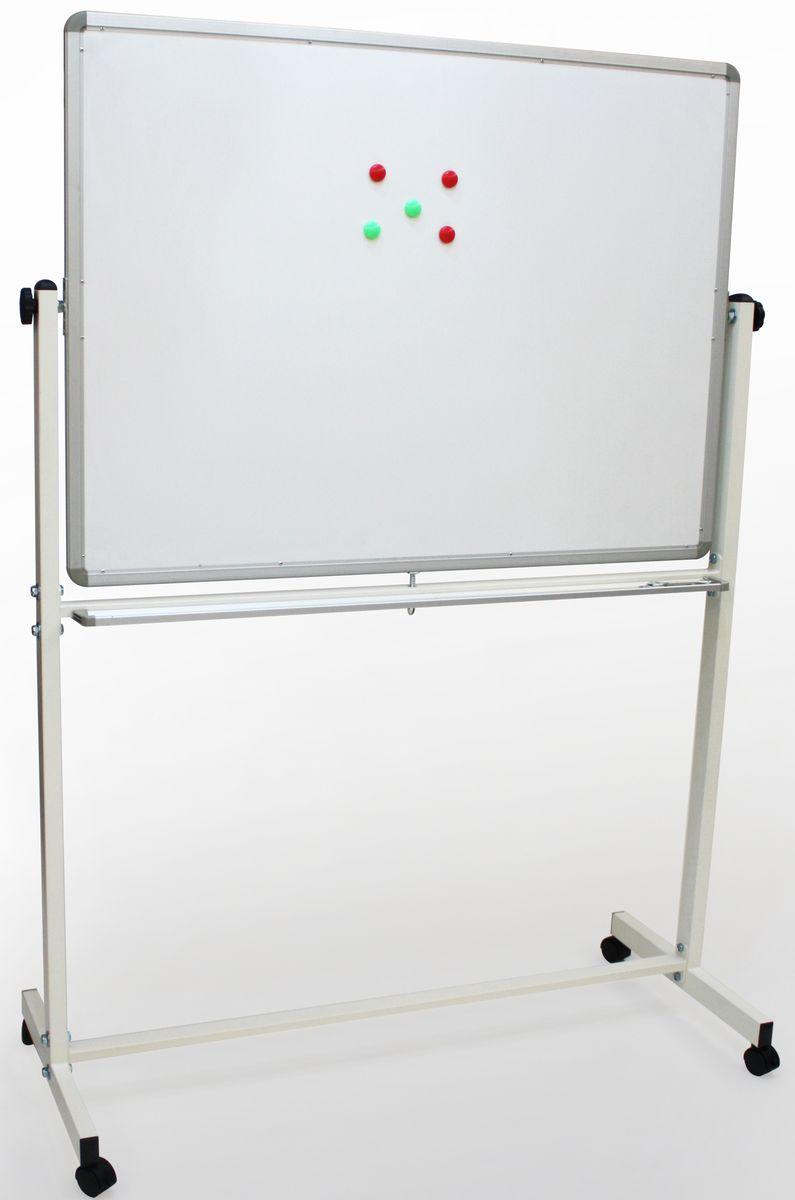 Идеальный вариант для офисов, учебных заведений. Легко перемещается. Белое лаковое покрытие предназначено для письма специальными маркерами для белой доски. Металлическая поверхность позволяет размещать объявления с помощью магнитов.