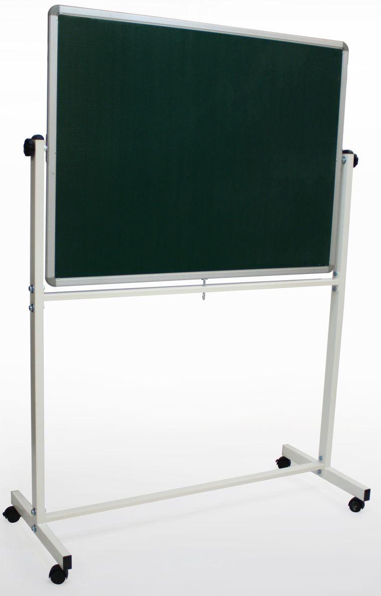 Используется в офисах, учебных заведениях. Легко перемещается. Белое лаковое покрытие предназначено для письма специальными маркерами для белой доски, зелёное - для письма мелом. Можно размещать материал с необходимой информацией с помощью магнитов.