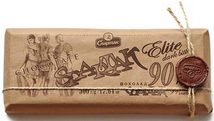 Спартак шоколад горький 90%, 500 г6969Вы гурман? Тогда будьте уверены, горький шоколад с 90-процентным содержанием какао-продуктов не оставит Вас равнодушным. Истинные почитатели этого лакомства по достоинству оценят глубокий вкус и аромат шоколада.