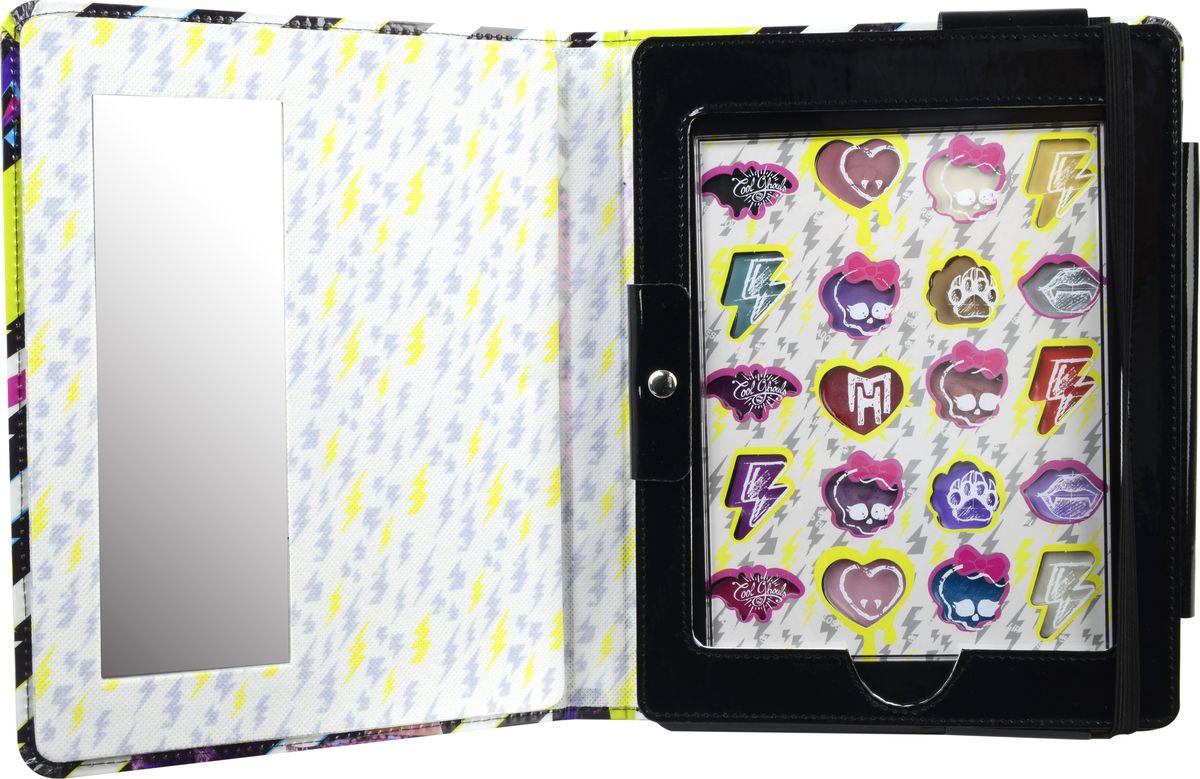 Markwins Игровой набор детской декоративной косметики Monster High 97066519706651Состав набора: чехол для планшета 1 шт., палитра кремовых теней для век из 8 оттенков, палитра блесков для губ из 12 оттенков, зеркало 1 шт.