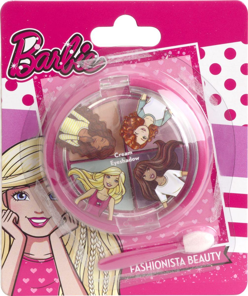 Markwins Игровой набор детской декоративной косметики Barbie 97071519707151Состав набора: палитра кремовых теней для век из 4 оттенков, аппликатор 1 шт.