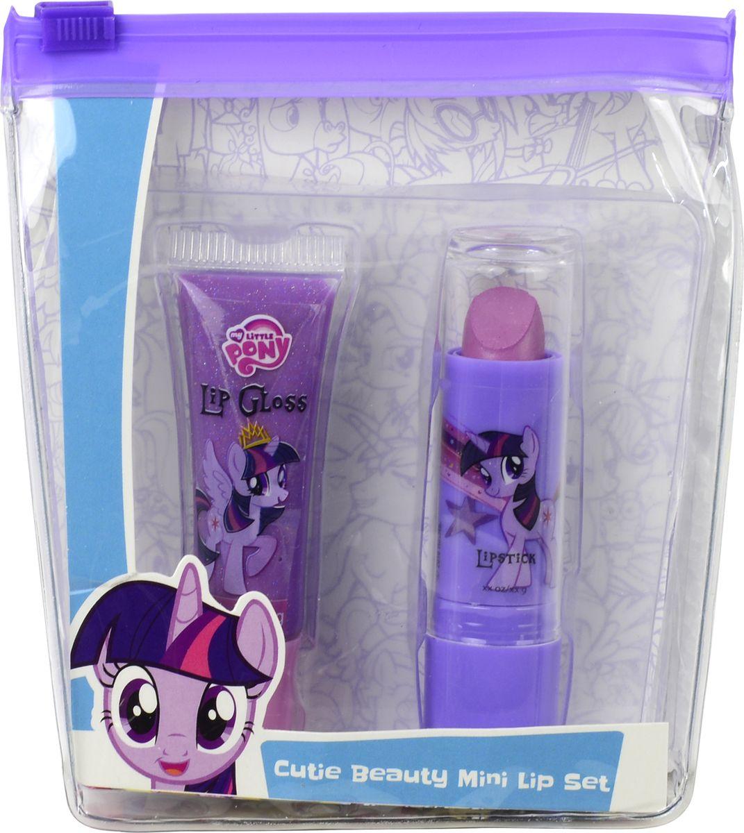 Markwins Игровой набор детской декоративной косметики My Little Pony 97105519710551Состав набора: блеск для губ в тубе 1 шт., губная помада в футляре 1 шт.