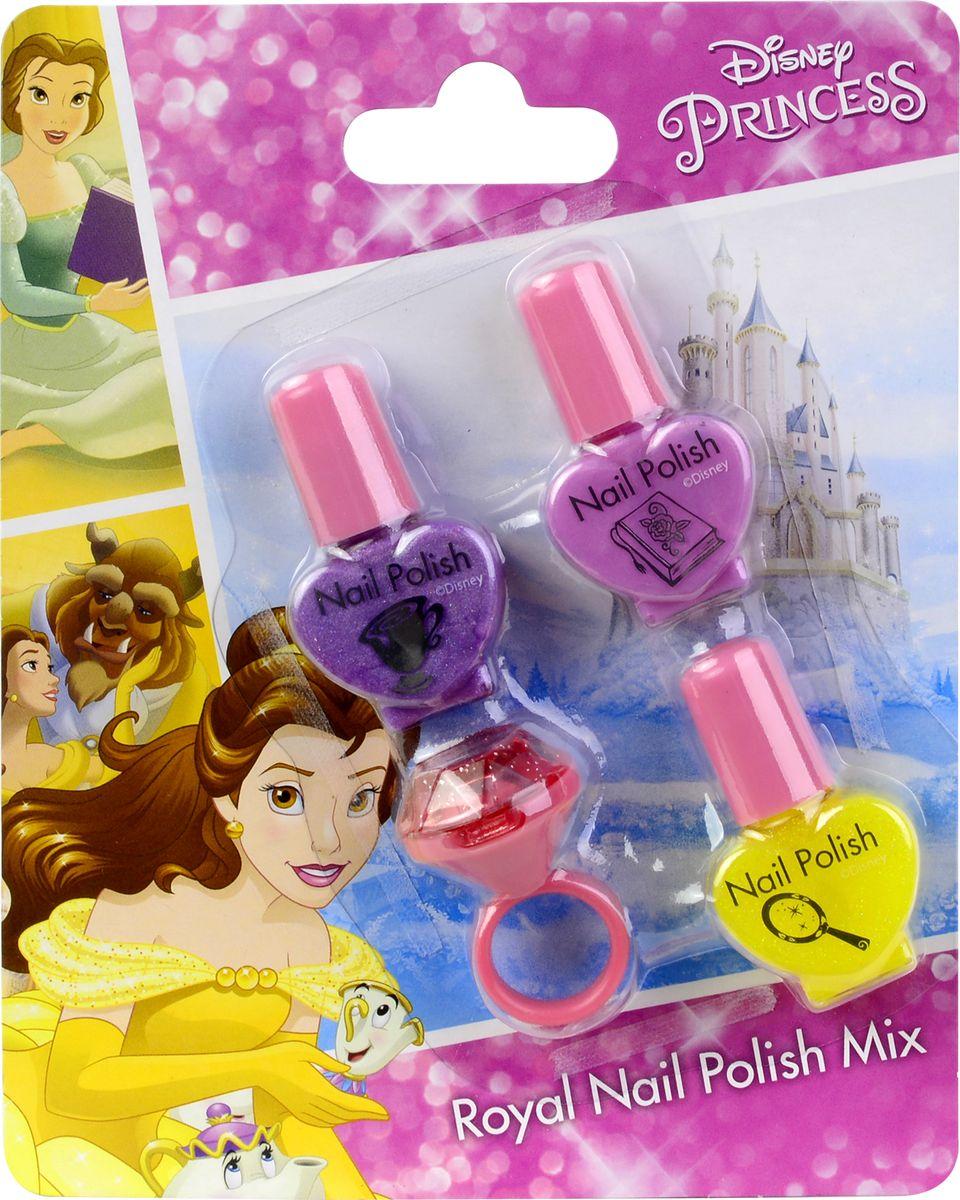 Markwins Игровой набор детской декоративной косметики Princess 97153519715351Состав набора: лаки для ногтей на водной основе 3 шт., блеск для губ в колечке 1 шт.