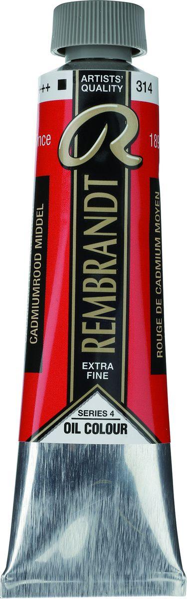 Royal Talens Краска масляная Rembrandt цвет 314 Кадмий красный средний 40 мл rembrandt sanguine dry карандаш художественный коричнево красный