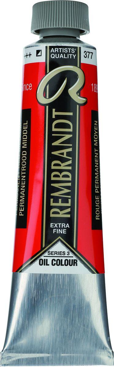 Royal Talens Краска масляная Rembrandt цвет 377 Красный средний устойчивый 40 мл -  Краски