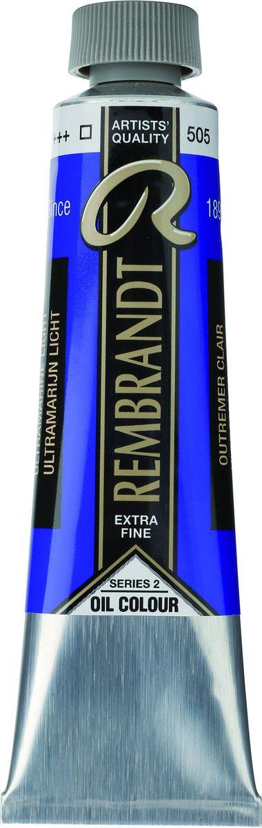 Royal Talens Краска масляная Rembrandt цвет 505 Ультрамарин светлый 40 мл01055052Масляные краски Rembrandt – это профессиональные краски исключительно высокого качества и традиций производства с 1899 г. Благодаря высокой концентрации натурального пигмента достигается чистота, насыщенность и глубина цвета. Широкая цветовая палитра и отличный баланс укрывистых и прозрачных оттенков позволят воплотить любые замыслы художника. Работы, написанные масляными красками Rembrandt, на долгие годы сохранят свое великолепие, а цвета не потускнеют и не потеряют интенсивности.Уровень Artist. Основные характеристики:Оптимальная интенсивность цвета с высокой концентрацией пигмента (не содержит наполнителей)Максимальная светостойкость (гарантия сохранения цвета у большинства оттенков – 100 лет)Единая степень вязкостиПалитра из 120 цветов