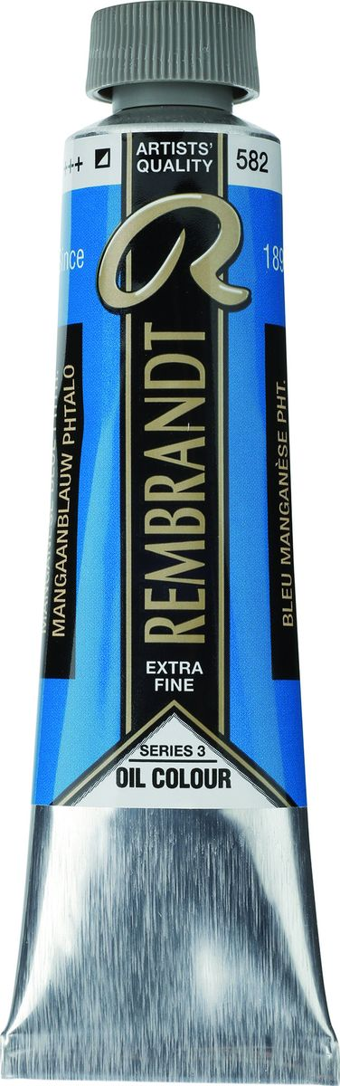Royal Talens Краска масляная Rembrandt цвет 582 Марганцево-синий фталоцианин 40 мл -  Краски