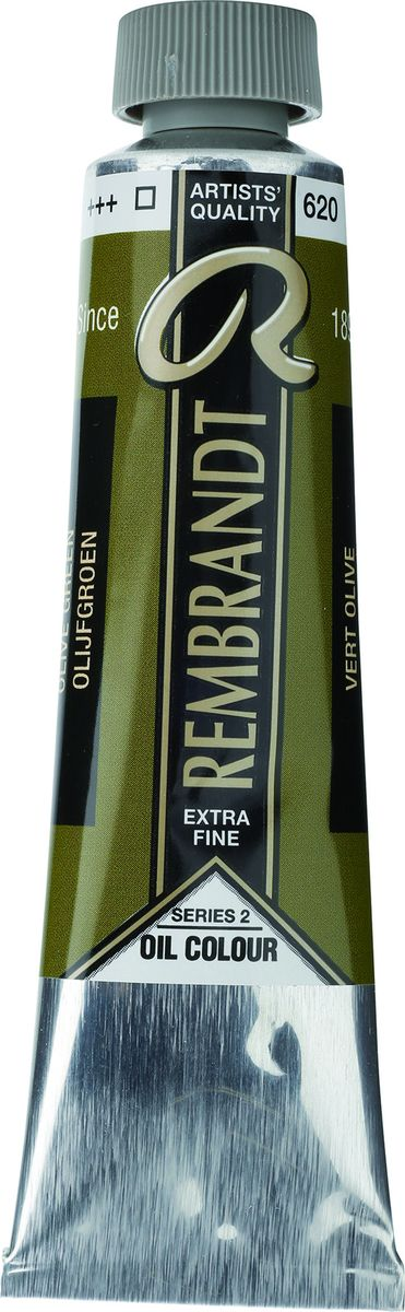 Royal Talens Краска масляная Rembrandt цвет 620 Зеленый оливковый 40 мл -  Краски