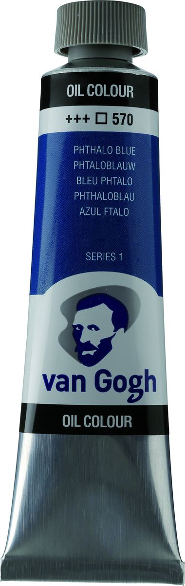 Royal Talens Краска масляная Van Gogh цвет 570 Синий фталоцианин 40 мл02055703Масляные краски Van Gogh – это современная линейка ярких и насыщенных оттенков с высоким содержанием пигмента. Все краски обладают одинаковой степенью плотности, прекрасно смешиваются между собой, с ними легко работать. Цветовой диапазон включает как укрывистые так и прозрачные краски, что позволяет создать эффект глубины картины.Основные характеристики:Высокое содержание пигментовСветостойкие (гарантия сохранения цвета у большинства оттенков - 100 лет)Яркие, интенсивные оттенкиРавномерная степень блеска и плотности цветов Палитра из 66 цветов