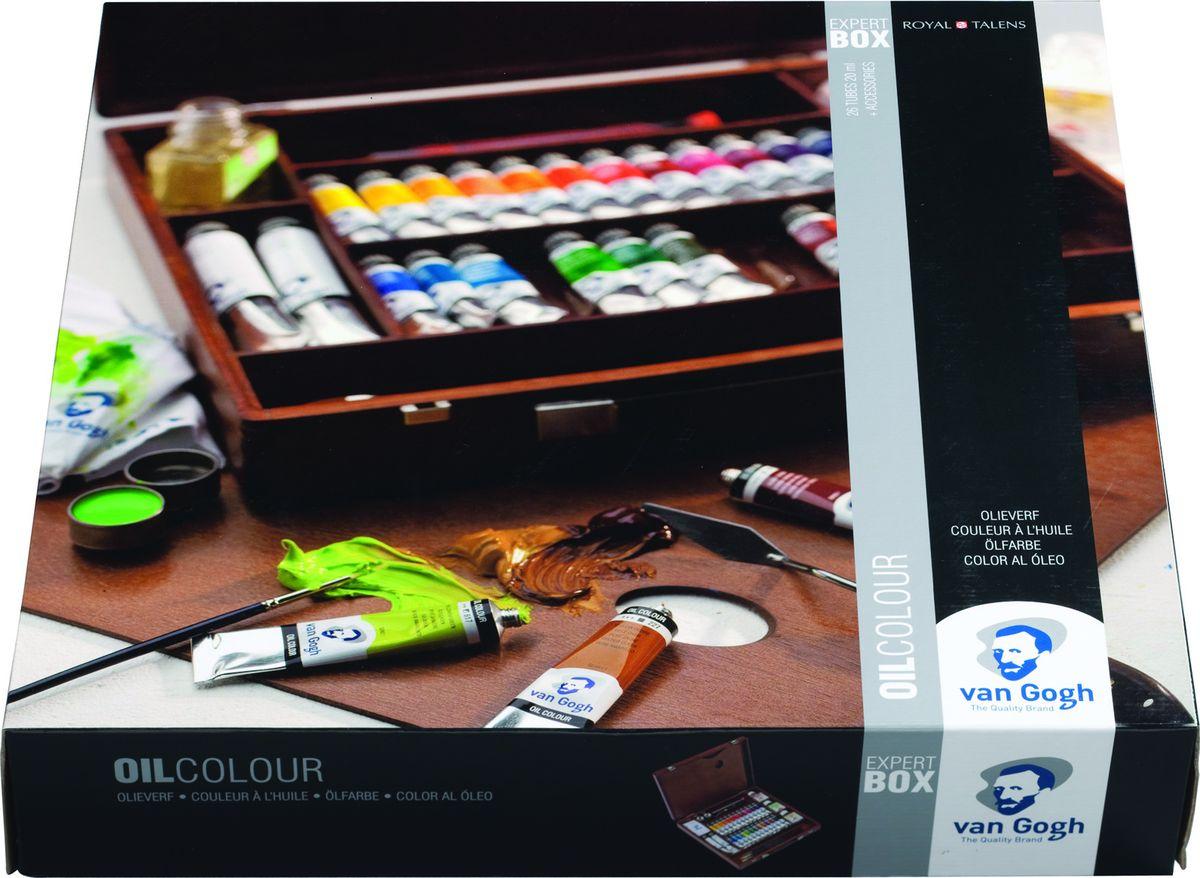 Royal Talens Набор масляных красок Van Gogh Эксперт 26 цветов02843426Масляные краски Van Gogh – это современная линейка ярких и насыщенных оттенков с высоким содержанием пигмента. Все краски обладают одинаковой степенью плотности, прекрасно смешиваются между собой, с ними легко работать. Цветовой диапазон включает как укрывистые так и прозрачные краски, что позволяет создать эффект глубины картины.Основные характеристики:Высокое содержание пигментовСветостойкие (гарантия сохранения цвета у большинства оттенков - 100 лет)Яркие, интенсивные оттенкиРавномерная степень блеска и плотности цветов Палитра из 66 цветов