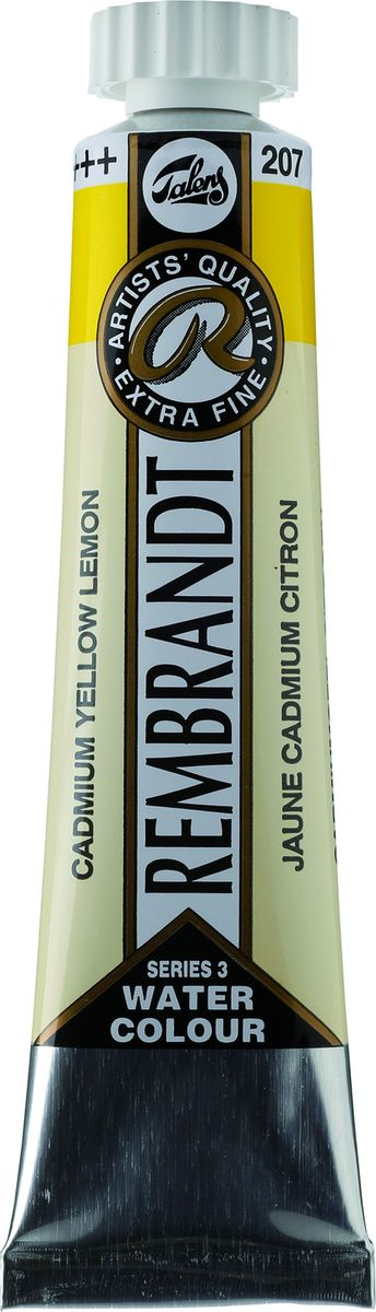 Royal Talens Акварель Rembrandt цвет 207 Кадмий желтый лимонный 20 мл05042070Акварельные краски Rembrandt – это профессиональная акварель, обладающая всеми качествами, которые необходимы современным художникам. Каждый цвет состоит лишь из одного сконцентрированного пигмента и гуммиарабика (аравийской камеди), созданного по уникальной технологии. Краски отличаются высокой степенью светостойкости, прозрачности, обеспечивают отличную цветопередачу. Акварель Rembrandt хорошо ложится на бумагу, позволяя художнику контролировать расход краски с любой сложной фактурой.Уровень Artist.