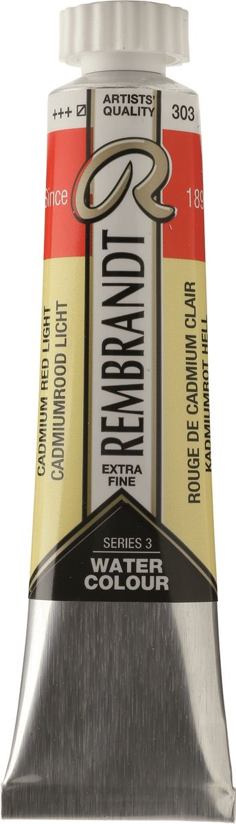 Royal Talens Акварель Rembrandt цвет 303 Кадмий красный светлый 20 мл05043030Акварельные краски Rembrandt – это профессиональная акварель, обладающая всеми качествами, которые необходимы современным художникам. Каждый цвет состоит лишь из одного сконцентрированного пигмента и гуммиарабика (аравийской камеди), созданного по уникальной технологии. Краски отличаются высокой степенью светостойкости, прозрачности, обеспечивают отличную цветопередачу. Акварель Rembrandt хорошо ложится на бумагу, позволяя художнику контролировать расход краски с любой сложной фактурой.Уровень Artist.