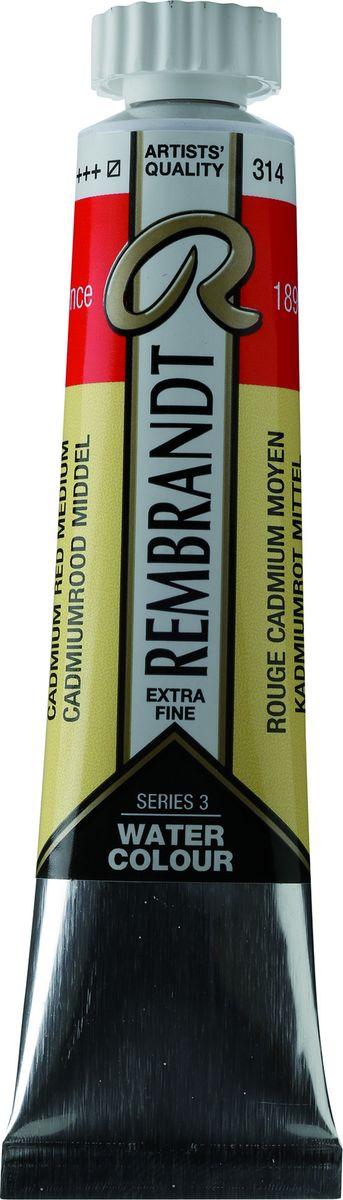 Royal Talens Акварель Rembrandt цвет 314 Кадмий красный средний 20 мл05043140Акварельные краски Rembrandt – это профессиональная акварель, обладающая всеми качествами, которые необходимы современным художникам. Каждый цвет состоит лишь из одного сконцентрированного пигмента и гуммиарабика (аравийской камеди), созданного по уникальной технологии. Краски отличаются высокой степенью светостойкости, прозрачности, обеспечивают отличную цветопередачу. Акварель Rembrandt хорошо ложится на бумагу, позволяя художнику контролировать расход краски с любой сложной фактурой.Уровень Artist.