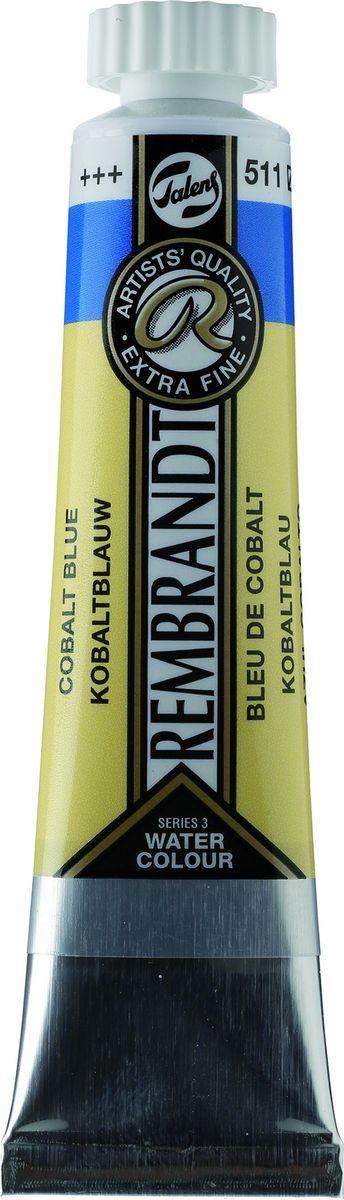 Royal Talens Акварель Rembrandt цвет 511 Кобальт синий 20 мл05045110Акварельные краски Rembrandt – это профессиональная акварель, обладающая всеми качествами, которые необходимы современным художникам. Каждый цвет состоит лишь из одного сконцентрированного пигмента и гуммиарабика (аравийской камеди), созданного по уникальной технологии. Краски отличаются высокой степенью светостойкости, прозрачности, обеспечивают отличную цветопередачу. Акварель Rembrandt хорошо ложится на бумагу, позволяя художнику контролировать расход краски с любой сложной фактурой.Уровень Artist.