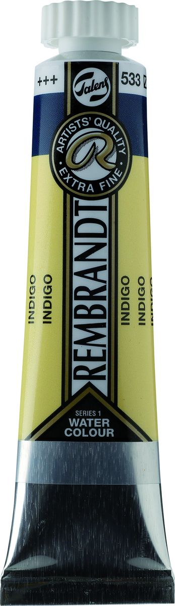 Royal Talens Акварель Rembrandt цвет 533 Индиго 20 мл05045330Акварельные краски Rembrandt – это профессиональная акварель, обладающая всеми качествами, которые необходимы современным художникам. Каждый цвет состоит лишь из одного сконцентрированного пигмента и гуммиарабика (аравийской камеди), созданного по уникальной технологии. Краски отличаются высокой степенью светостойкости, прозрачности, обеспечивают отличную цветопередачу. Акварель Rembrandt хорошо ложится на бумагу, позволяя художнику контролировать расход краски с любой сложной фактурой.Уровень Artist.