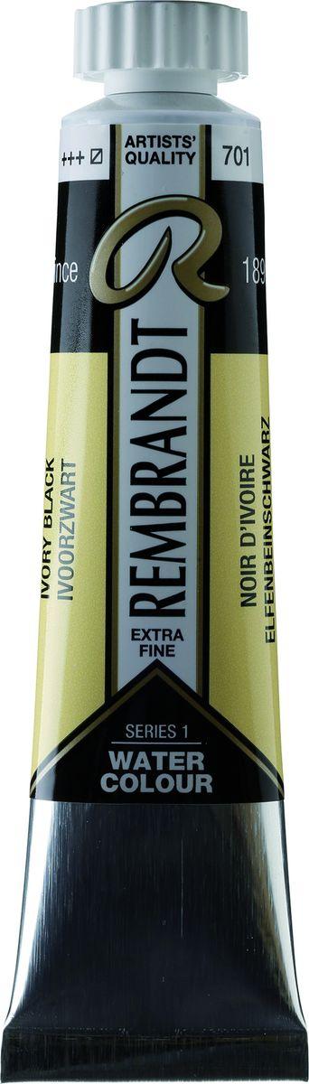 Royal Talens Акварель Rembrandt цвет 701 Черный жженая кость 20 мл05047010Акварельные краски Rembrandt – это профессиональная акварель, обладающая всеми качествами, которые необходимы современным художникам. Каждый цвет состоит лишь из одного сконцентрированного пигмента и гуммиарабика (аравийской камеди), созданного по уникальной технологии. Краски отличаются высокой степенью светостойкости, прозрачности, обеспечивают отличную цветопередачу. Акварель Rembrandt хорошо ложится на бумагу, позволяя художнику контролировать расход краски с любой сложной фактурой.Уровень Artist.