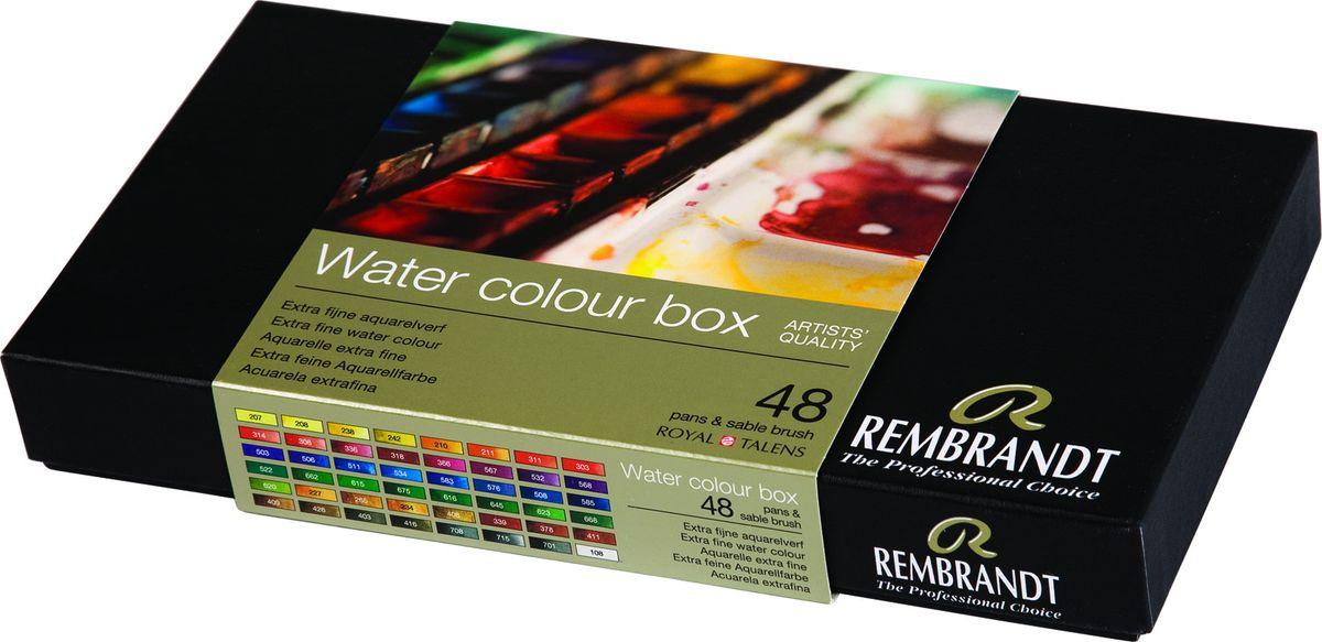 Royal Talens Набор акварельных красок Rembrandt 48 цветов05838649Акварельные краски Rembrandt – это профессиональная акварель, обладающая всеми качествами, которые необходимы современным художникам. Каждый цвет состоит лишь из одного сконцентрированного пигмента и гуммиарабика (аравийской камеди), созданного по уникальной технологии. Краски отличаются высокой степенью светостойкости, прозрачности, обеспечивают отличную цветопередачу. Акварель Rembrandt хорошо ложится на бумагу, позволяя художнику контролировать расход краски с любой сложной фактурой.Уровень Artist.