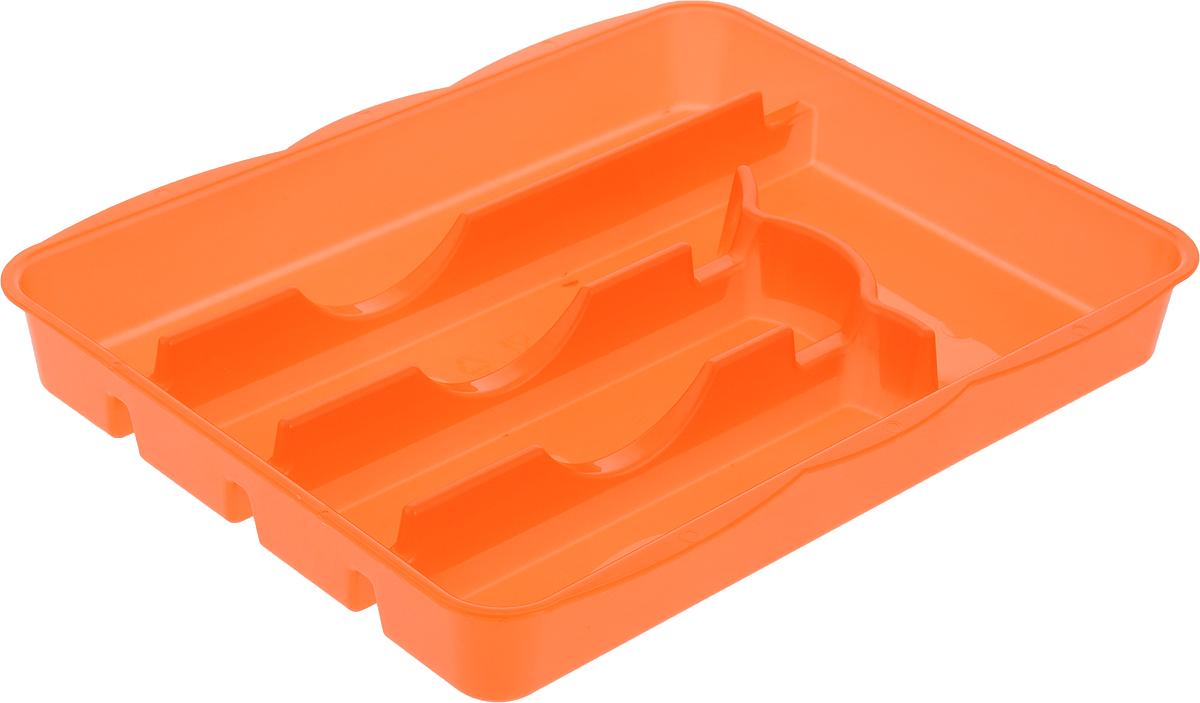 Лоток для столовых приборов Альтернатива, цвет: оранжевый, 5 отделений, 31,5 х 26 х 4 смM1067_оранжевыйЛоток для столовых приборов Альтернатива изготовлен из высококачественного пищевого пластика. Он предназначен для выдвигающихся ящиков на кухне. Лоток имеет пять отделений: три отделения для вилок, ложек, ножей, одно маленькое отделение для чайных ложек и десертных вилок, одно большое отделение для остальных приборов.Размер большого отделения: 30,5 х 5,5 см.Размер средних отделений: 22,5 см х 5,5 см.Размер маленького отделения: 17,5 х 8 см.Общий размер лотка: 31,5 х 26 х 4 см.