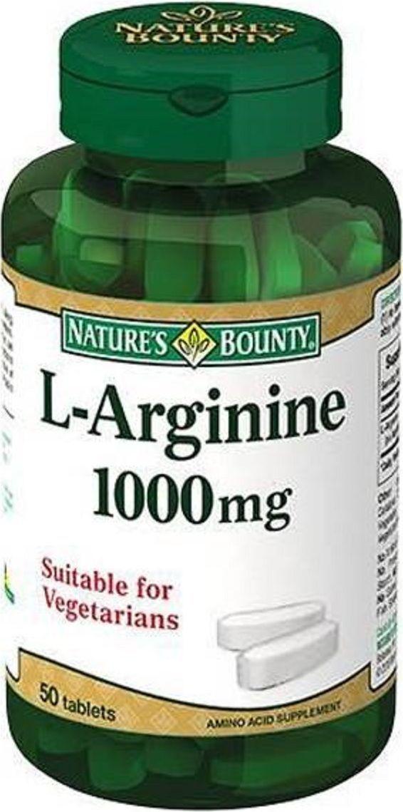 Нэйчес Баунти L-Аргинин таблетки 1000 мг №50221463L-аргинин – условно незаменимая аминокислота, источником оксида азота в организме, регулирующего широту просвета кровеносных сосудов. Сфера применения: ВитаминологияМакро- и микроэлементы